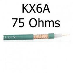 Câble coaxial 75 Ohms KX6A