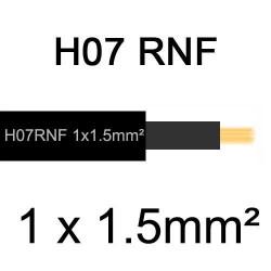 câble électrique extérieur extra souple isolé caoutchouc néoprène H07RNF 1x1.5mm2