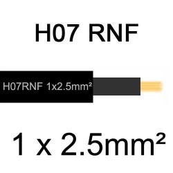 câble électrique extérieur extra souple isolé caoutchouc néoprène H07RNF 1x2.5mm2
