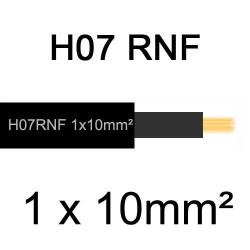 câble électrique extérieur extra souple isolé caoutchouc néoprène H07RNF 1x10mm2