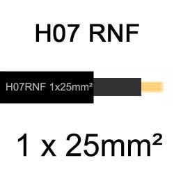 câble électrique extérieur extra souple isolé caoutchouc néoprène H07RNF 1x25mm2