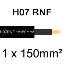 câble électrique extérieur extra souple isolé caoutchouc néoprène H07RNF 1x150mm2