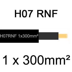 câble électrique extérieur extra souple isolé caoutchouc néoprène H07RNF 1x300mm2