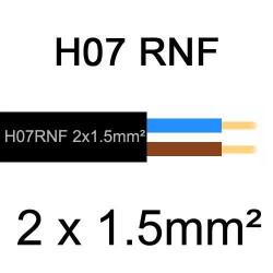 câble électrique extérieur extra souple isolé caoutchouc néoprène H07RNF 2x1.5mm2