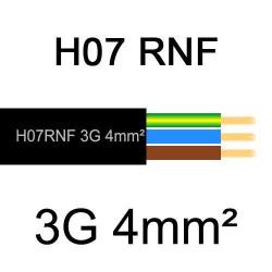 câble électrique extérieur extra souple isolé caoutchouc néoprène H07RNF 3G4mm2