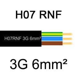 câble électrique extérieur extra souple isolé caoutchouc néoprène H07RNF 3G6mm2