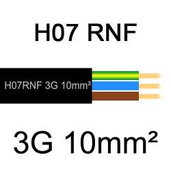 câble électrique extérieur extra souple isolé caoutchouc néoprène H07RNF 3G10mm2