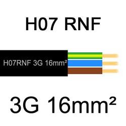 câble électrique extérieur extra souple isolé caoutchouc néoprène H07RNF 3G16mm2