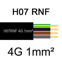 câble électrique extérieur extra souple isolé caoutchouc néoprène H07RNF 4G1mm2