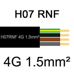 câble électrique extérieur extra souple isolé caoutchouc néoprène H07RNF 4G1.5mm2
