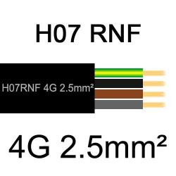 câble électrique extérieur extra souple isolé caoutchouc néoprène H07RNF 4G2.5mm2