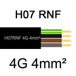 câble électrique extérieur extra souple isolé caoutchouc néoprène H07RNF 4G4mm2