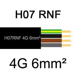 câble électrique extérieur extra souple isolé caoutchouc néoprène H07RNF 4G6mm2