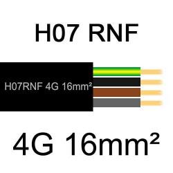 câble électrique extérieur extra souple isolé caoutchouc néoprène H07RNF 4G16mm2