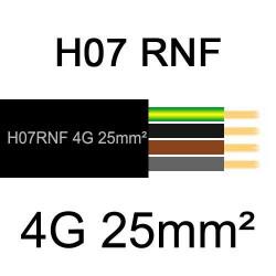 câble électrique extérieur extra souple isolé caoutchouc néoprène H07RNF 4G25mm2