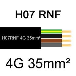 câble électrique extérieur extra souple isolé caoutchouc néoprène H07RNF 4G35mm2