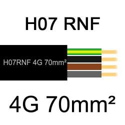 câble électrique extérieur extra souple isolé caoutchouc néoprène H07RNF 4G70mm2