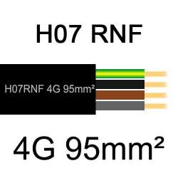 câble électrique extérieur extra souple isolé caoutchouc néoprène H07RNF 4G95mm2