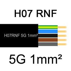 câble électrique extérieur extra souple isolé caoutchouc néoprène H07RNF 5G1mm2
