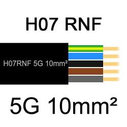 câble électrique extérieur extra souple isolé caoutchouc néoprène H07RNF 5G10mm2