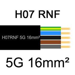 câble électrique extérieur extra souple isolé caoutchouc néoprène H07RNF 5G16mm2
