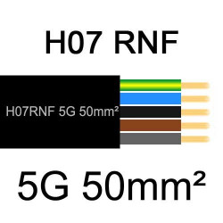 câble électrique extérieur extra souple isolé caoutchouc néoprène H07RNF 5G50mm2