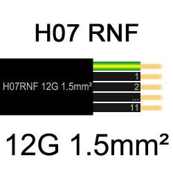 câble électrique extérieur extra souple isolé caoutchouc néoprène H07RNF 12x1.5mm2