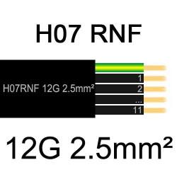 câble électrique extérieur extra souple isolé caoutchouc néoprène H07RNF 12x2.5mm2