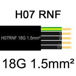 câble électrique extérieur extra souple isolé caoutchouc néoprène H07RNF 18G1.5mm2