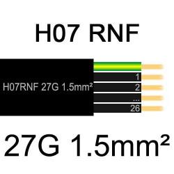câble électrique extérieur extra souple isolé caoutchouc néoprène H07RNF 27G1.5mm2