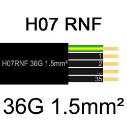câble électrique extérieur extra souple isolé caoutchouc néoprène H07RNF 36G1.5mm2