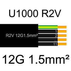 câble électrique cuivre U1000 R2V 12 conducteurs de section 1.5mm²
