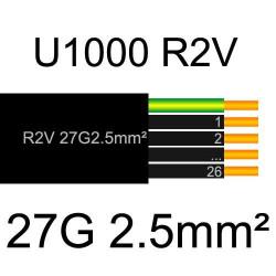 câble électrique cuivre U1000 R2V 27 conducteurs de section 2.5mm²
