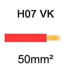 fil de câblage en cuivre souple isolé PVC série H07VK 50mm² rouge