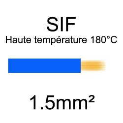 fil cuivre souple isolé silicone 1.5mm2 bleu