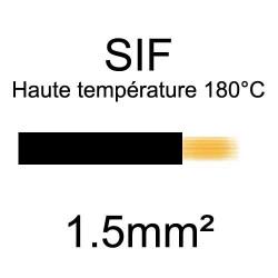 fil cuivre souple isolé silicone 1.5mm2 noir