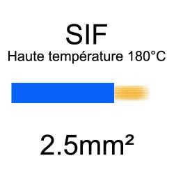 fil cuivre souple isolé silicone 2.5mm2 bleu