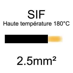 fil cuivre souple isolé silicone 2.5mm2 noir