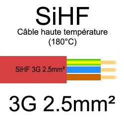 câble électrique cuivre souple isolé silicone SIHF 3 conducteurs 2.5mm²