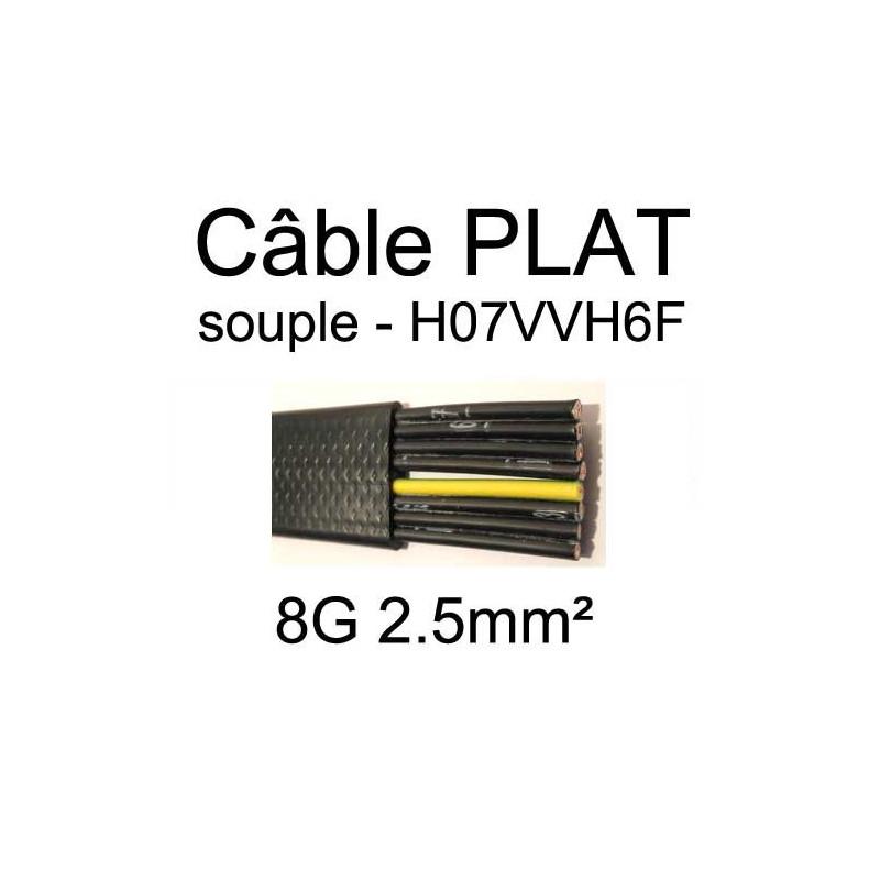 Câble électrique plat souple type H07VVH6F