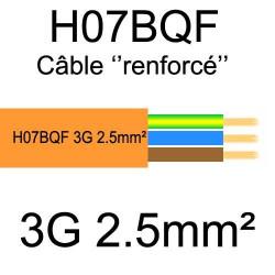 câble cuivre souple isolé PUR Polyuréthane 3 conducteurs 2.5mm²