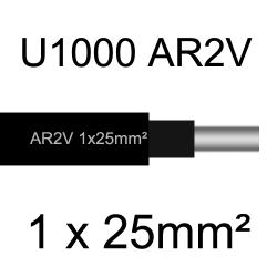 câble électrique aluminimum AR2V 1 conducteur section 25mm²