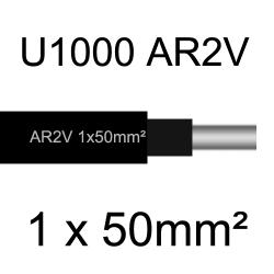 câble électrique aluminimum AR2V 1 conducteur section 50mm²