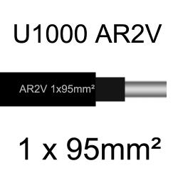 câble électrique aluminimum AR2V 1 conducteur section 95mm²