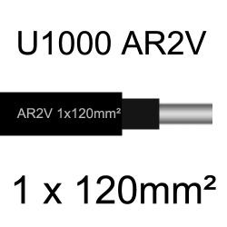 câble électrique aluminimum AR2V 1 conducteur section 120mm²
