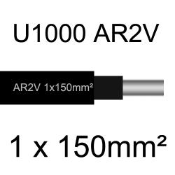 câble électrique aluminimum AR2V 1 conducteur section 150mm²