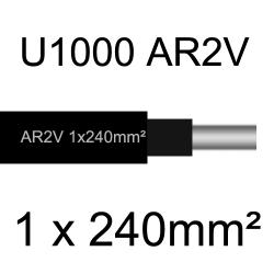 câble électrique aluminimum AR2V 1 conducteur section 240mm²