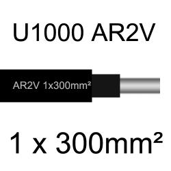 câble électrique aluminimum AR2V 1 conducteur section 300mm²