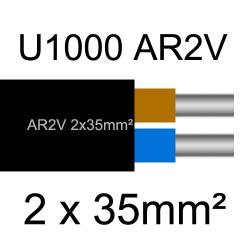 câble électrique aluminimum AR2V 2 conducteurs section 35mm²