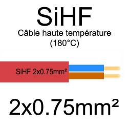 câble électrique cuivre souple isolé silicone SIHF 2 conducteurs 0.75mm²
